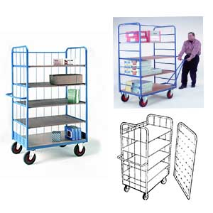 Trolleys Trucks and Trailers industrial & warehouse Mobile Safety Steps  UK made 501TS33T Standard