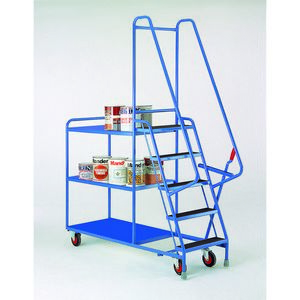 Trolleys Trucks and Trailers industrial & warehouse Mobile Safety Steps  UK made S190 Standard