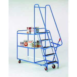 Trolleys Trucks and Trailers industrial & warehouse Mobile Safety Steps  UK made S196 Standard