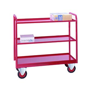Trolleys Trucks and Trailers industrial & warehouse Mobile Safety Steps  UK made 507TT39 blue,red