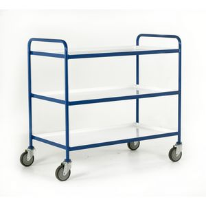 Trolleys Trucks and Trailers industrial & warehouse Mobile Safety Steps  UK made 507TT67 blue,red