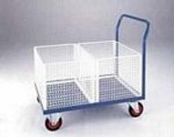 Post trolley document distribution trolleys with mesh baskets
