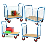 Mesh side platform trucks roll cages and caged trolleys sides