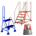 Mobile Safety Steps | Warehouse Ladders | Llibrary Steps | Aircraft Steps | Vehicle Loading Platform