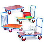 Warehouse Platform Trolleys | Long Goods Trolleys | flat bed trolleys for warehouses